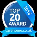 Top 20 Care Home awards logo
